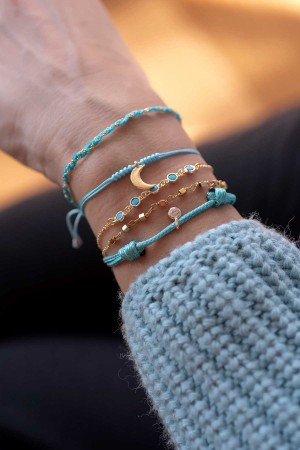 COMFORT ZONE - CYAN - Turquoise CZ Bracelet (1)