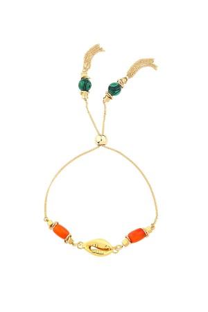 PLAYGROUND - CYPREA - Sliding Seashell Bracelet