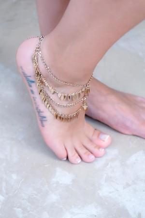 SHOW TIME - DANCER - Boho Dangle Coin Anklet (1)