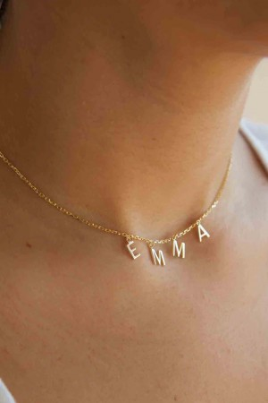 Dangle Letters Charm Letter Name Necklace Dangle Charm