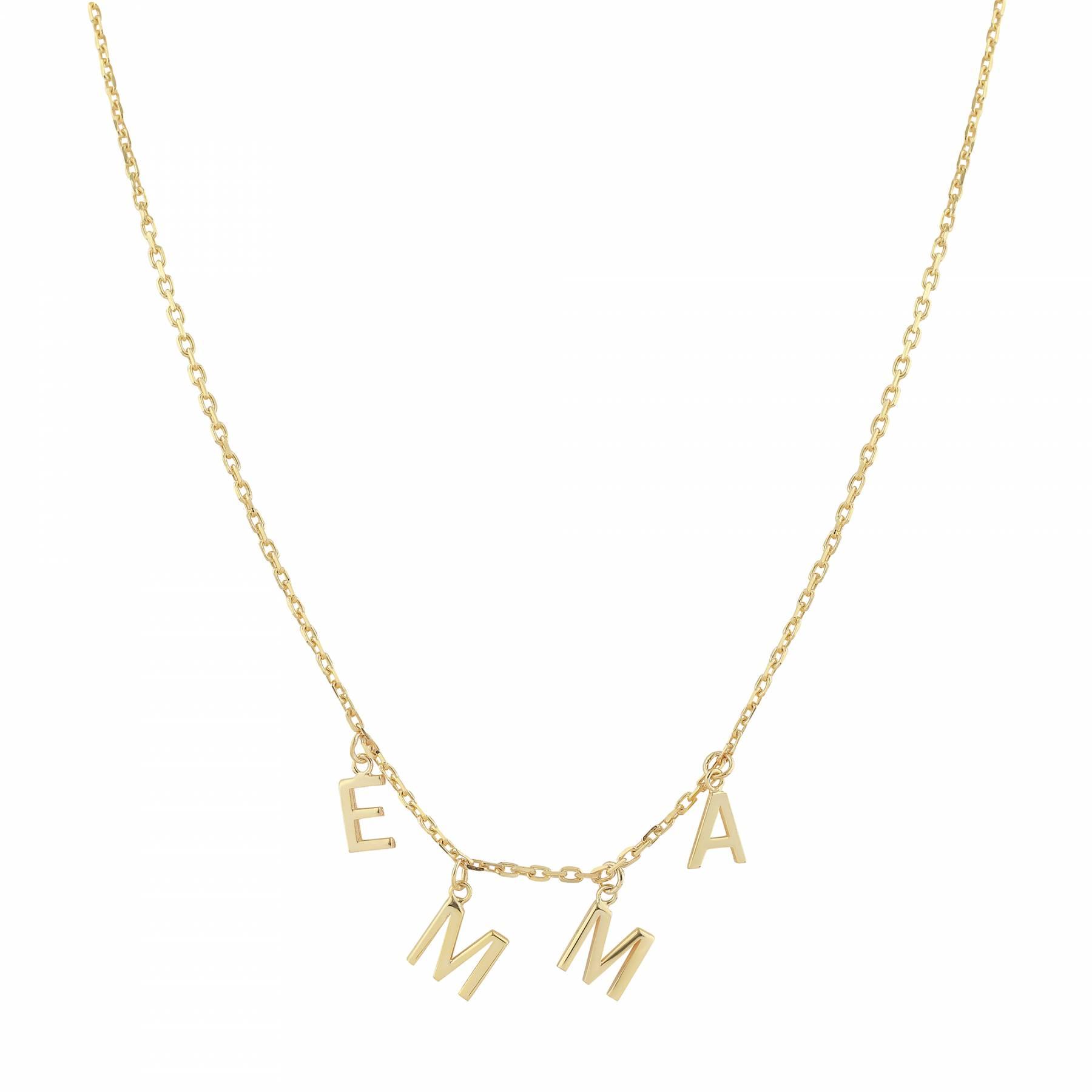 2eeb8c391d212 DANGLE LETTERS - Charm Letter Name Necklace - Dangle Charm Letters ...