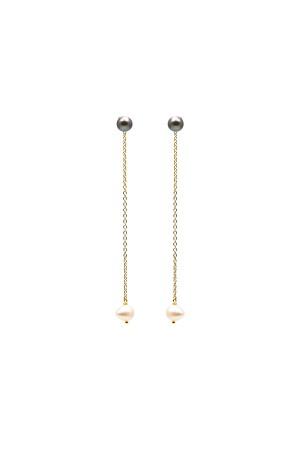 COMFORT ZONE - DANGLING PEARLS - Dangle Earrings