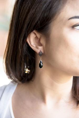 SHOW TIME - DARK STAR - Black CZ Earrings (1)