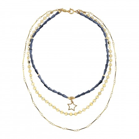 SHOW TIME - DARK STAR - Layered Statement Necklace