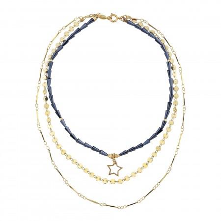 DARK STAR - Layered Statement Necklace - Thumbnail