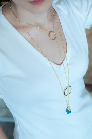 COMFORT ZONE - DEEP OCEAN - Pendant Necklace (1)