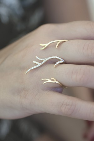 PLAYGROUND - DEER RING - Knuckle Duster Ring (1)