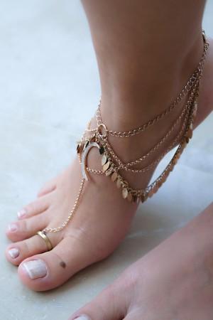 SHOW TIME - DESERT MOON - Boho Barefoot Sandal (1)
