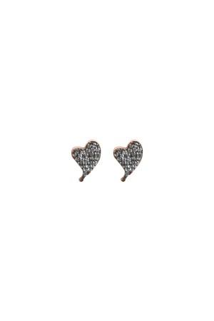 PETITE FAMILY - DIAMOND BEAT - CZ Heart Studs (1)