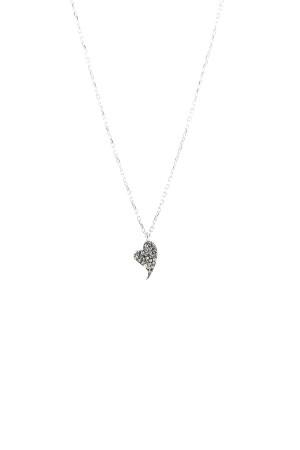 DIAMOND BEAT - Taşlı Kalp Kolye - Thumbnail