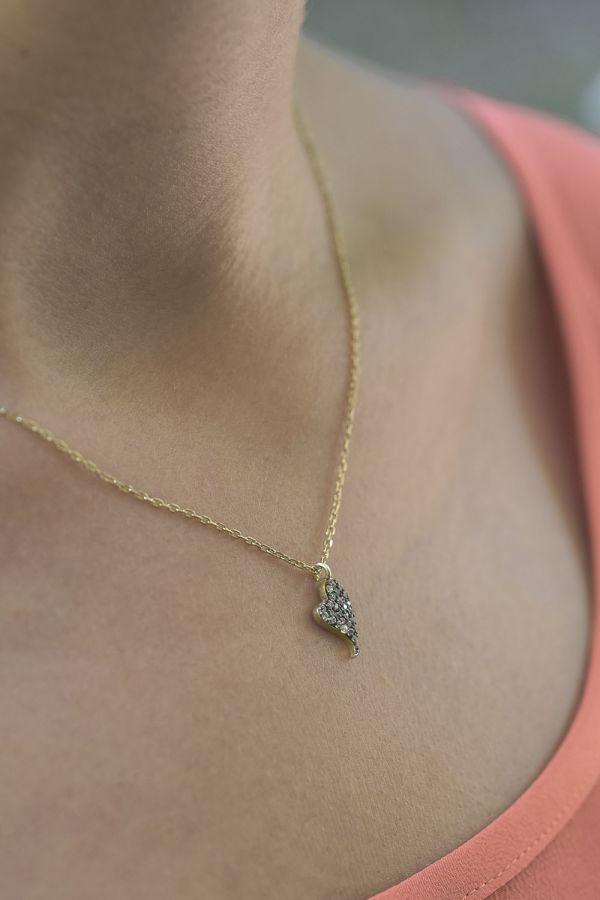 DIAMOND BEAT - Taşlı Kalp Kolye