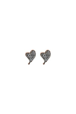 PETITE FAMILY - DIAMOND BEAT - Taşlı Kalp Küpe (1)