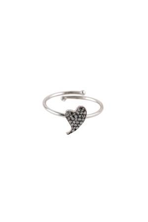 PETITE FAMILY - DIAMOND BEAT - Taşlı Kalp Yüzük