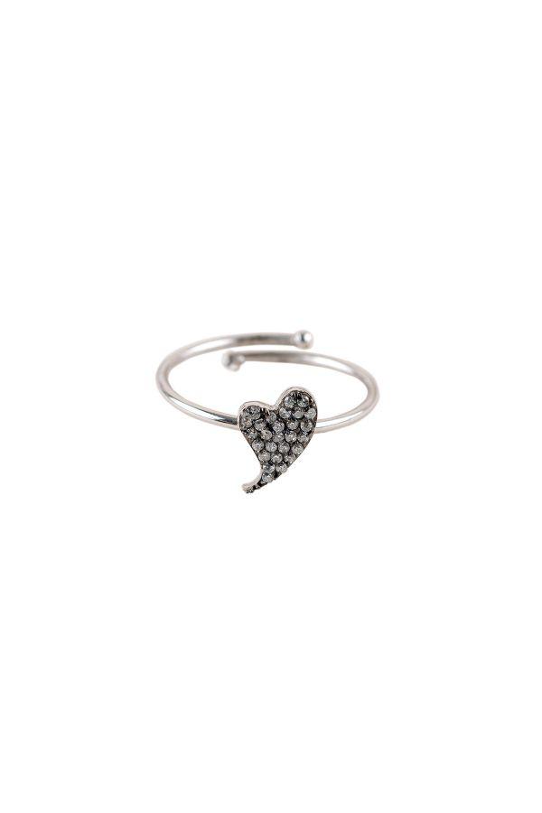 DIAMOND BEAT - Taşlı Kalp Yüzük
