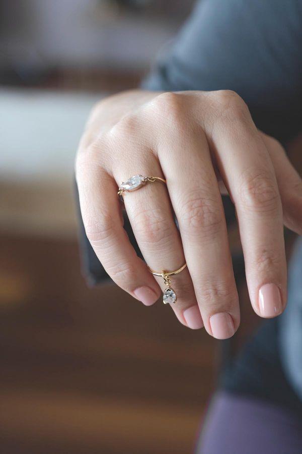 DIAMOND - Charm Ring