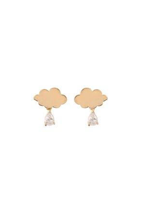 SHOW TIME - DIAMOND CLOUD - Minimal Drop Earrings