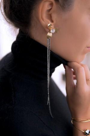 DIAMOND FLOWER - Mono Statement Earring - Thumbnail