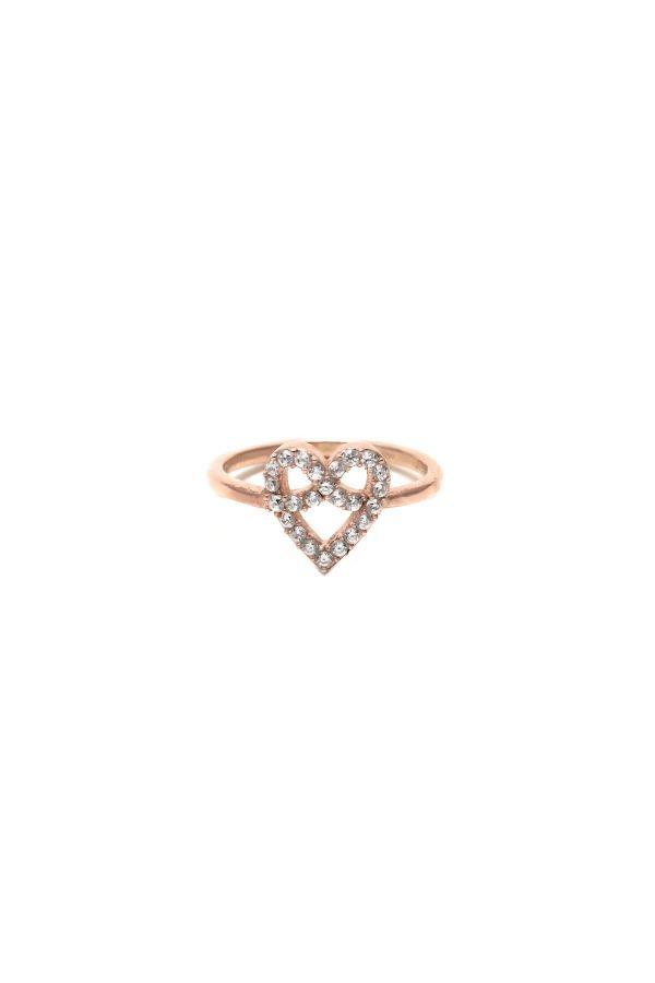 DIAMOND HEART - Taşlı Yüzük