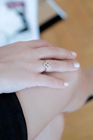 BAZAAR - DIAMOND HEART - Taşlı Yüzük (1)
