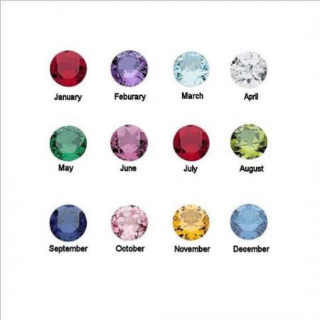 PETITE JEWELRY - DIAMOND INITIAL - Sideways Initial with Birthstone (1)