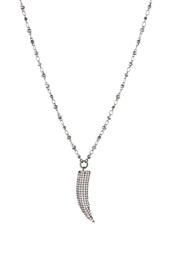 DIAMOND IVORY - Taşlı Fildişi Kolye