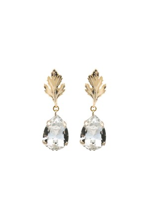 COMFORT ZONE - DIAMOND LEAF - Crystal Earrings