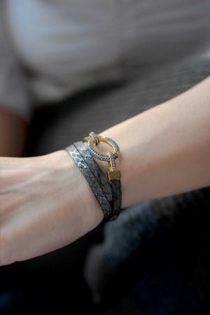 SHOW TIME - DIAMOND LOCK - Zirkon Taşlı Kilitli Bileklik (1)