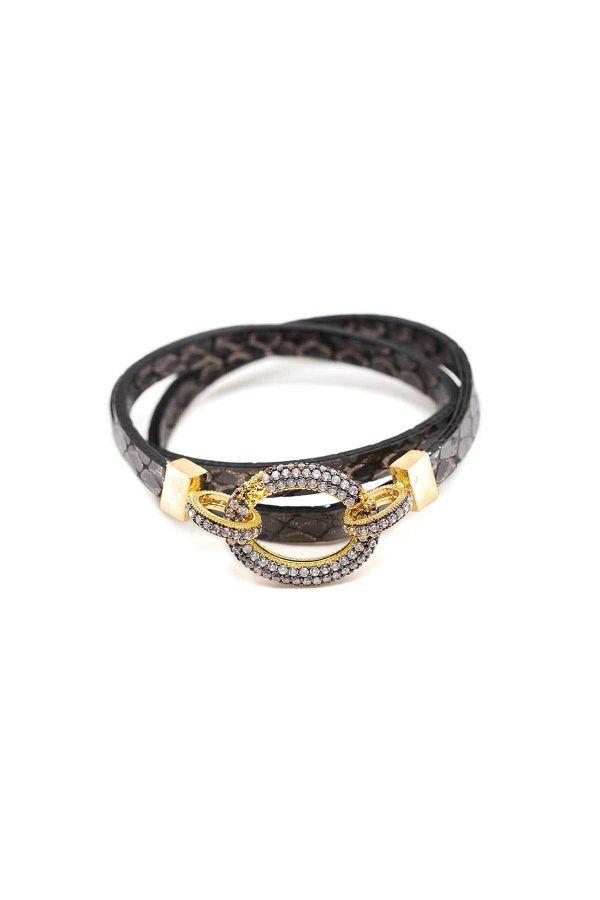 DIAMOND LOCK - Zirkon Taşlı Kilitli Bileklik