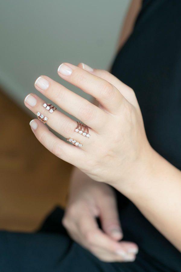 DIAMOND SET - Set of Open Rings