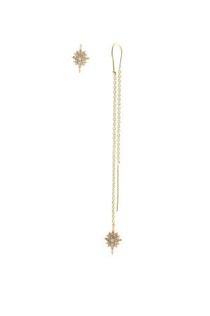 BAZAAR - DIAMOND STAR - Asymmetrical Earrings