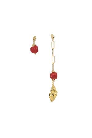 PLAYGROUND - DIVINE RED - Doğal Mercan Küpe