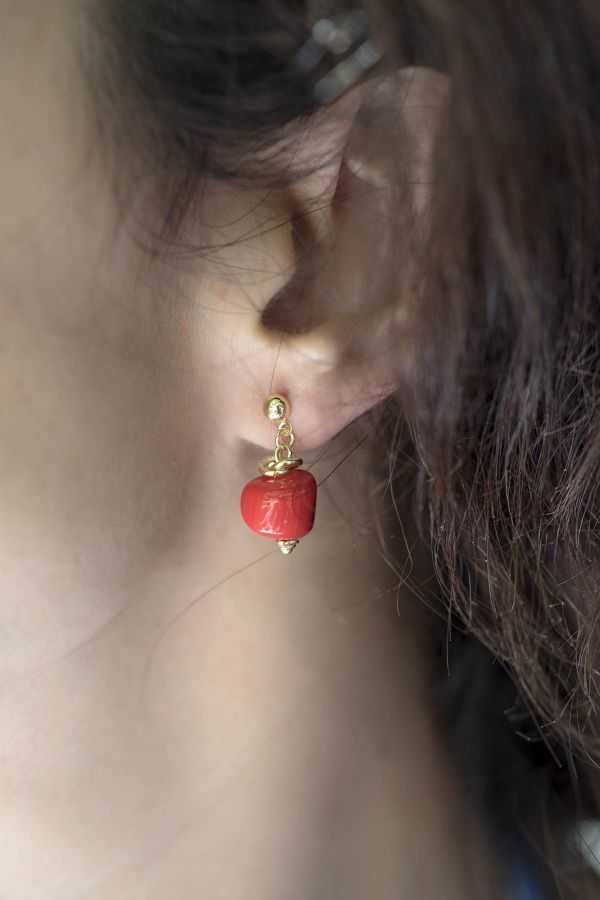 DIVINE RED - Doğal Mercan Küpe