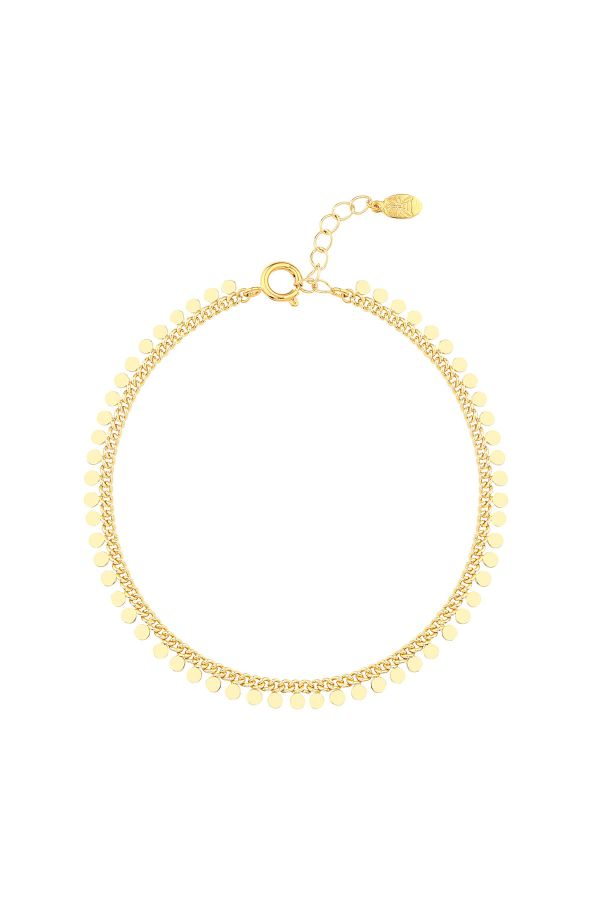 DOTS - Minimalistic Coin Anklet