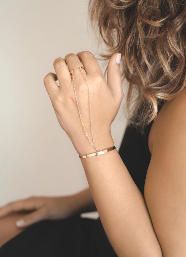 DOUBLE CHAINED - Ring Bracelet