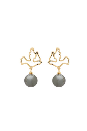 PLAYGROUND - DOVE - Grey Pearl Earrings