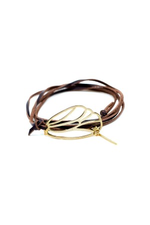 PLAYGROUND - DRAW A LEAF - Leather Wrap Bracelet