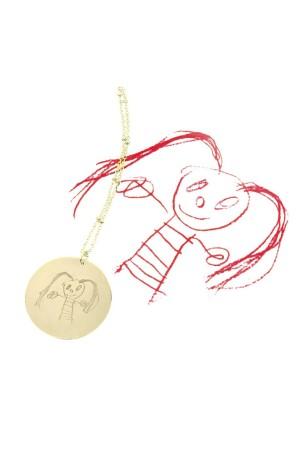 DRAWING - Çocuk İlk Çizim Kolye - Thumbnail