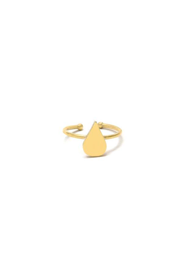 DROP RING - Altın Kaplama Yüzük