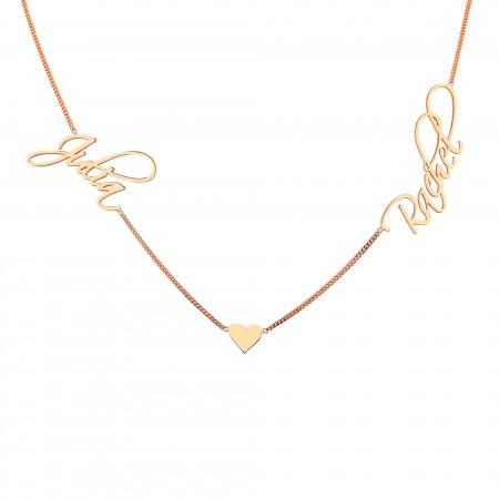 PETITE JEWELRY - DUO- Signature Script Two Names Necklace