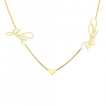 PETITE JEWELRY - DUO- Signature Script Two Names Necklace (1)