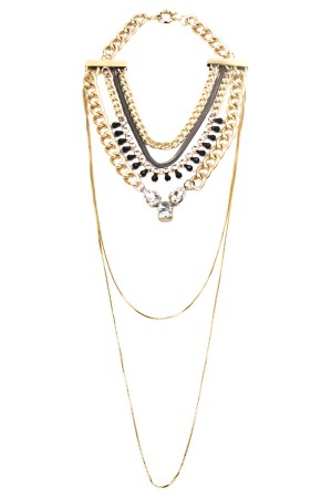 SHOW TIME - ELIZABETH - Layered Statement Necklace
