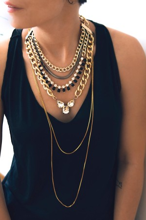 SHOW TIME - ELIZABETH - Layered Statement Necklace (1)