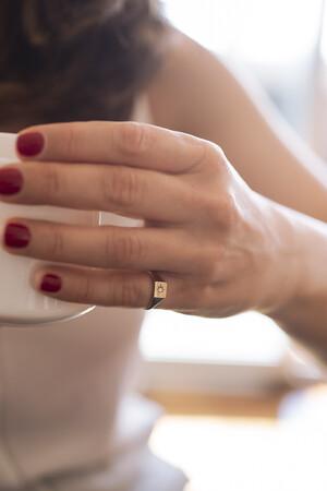 ESTRELLA - 14 Ayar Altın Serçe Parmak Yüzüğü - Thumbnail