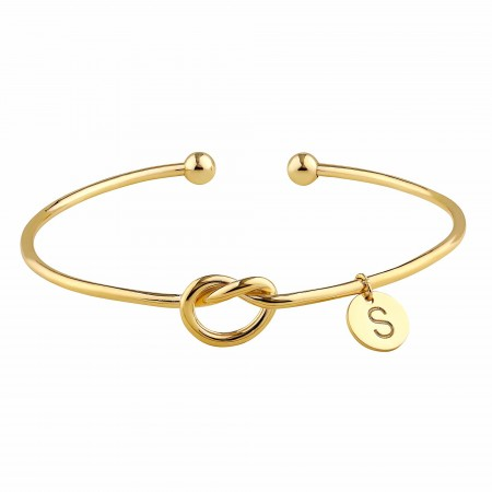 PETITE JEWELRY - ETERNAL INITIAL - Love Knot Bracelet (1)