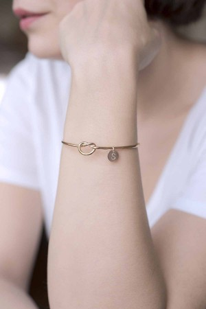 PETITE JEWELRY - ETERNAL INITIAL - Love Knot Bracelet (1)