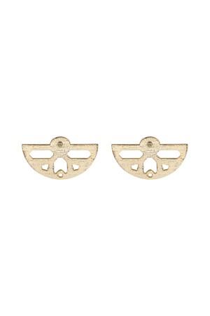 COMFORT ZONE - ETHNIC HALF MOON - Stud Earrings