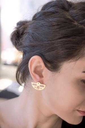 COMFORT ZONE - ETHNIC HALF MOON - Stud Earrings (1)
