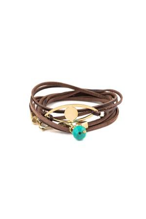 PLAYGROUND - EYE WRAP - Wrap Charm Bracelet