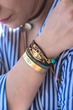 PLAYGROUND - EYE WRAP - Wrap Charm Bracelet (1)