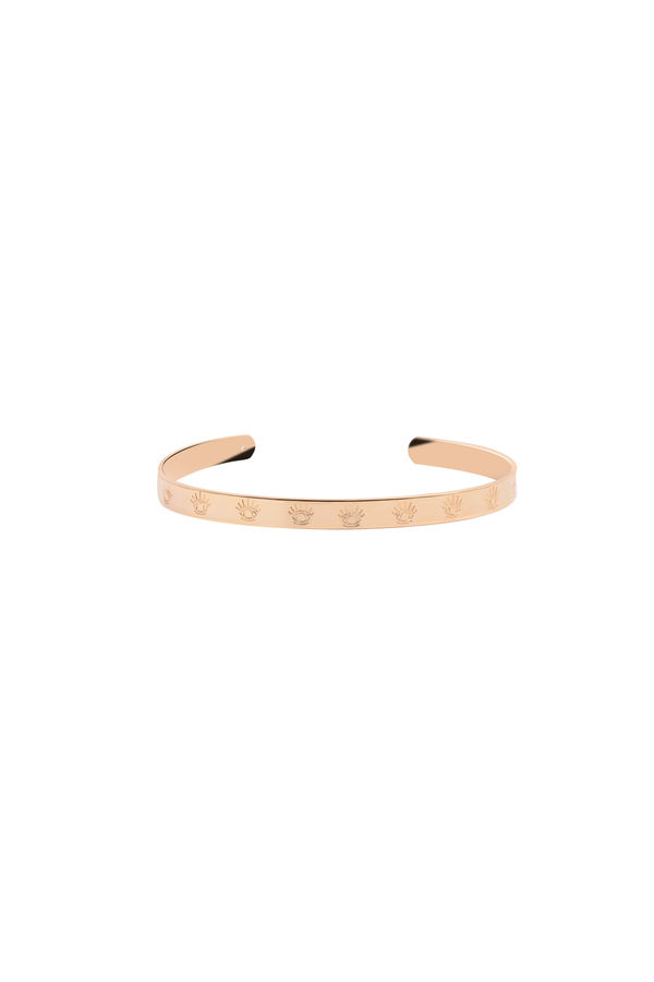 EYES ON ME - Eye Engraved Cuff Bracelet